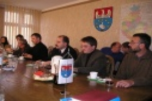 Spotkanie władz powiatu kępińskiego z przedstaw
