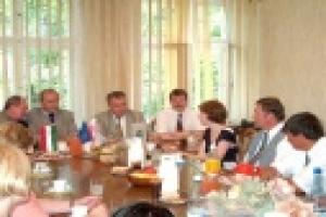 Węgierska delegacja w naszym Powiecie