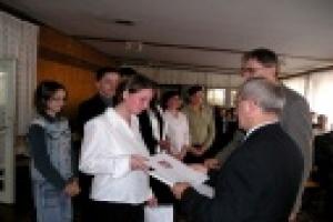 Uroczystość wręczenia stypendiów Marszałka uc