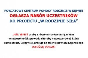Powiatowe Centrum Pomocy Rodzinie w Kępnie ogłas