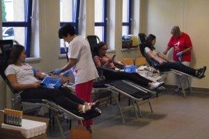 X akcja oddawania krwi w ZSP Nr2 w Kępnie