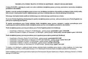 Nieodpłatna pomoc prawna w Powiecie Kępińskim