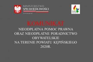 Komunikat Starosty Kępińskiego ws. nieodpłatnej