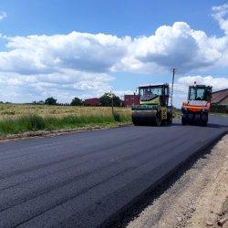 prace na odcinku drogi powiatowej nr 5696P Łączącym Łękę Opatowska z Opatowem