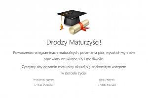 Życzenia Starosty Kępińskiego dla maturzystów