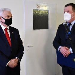Sekretarz Stanu w Ministerstwie Zdrowia minister Waldemar Kraska oraz Starosta Kępiński Robert Kieruzal
