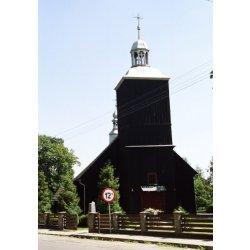 Zdjęcie kościoła w Grębaninie w zbliżeniu