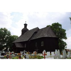 Zdjęcie kościoła przy cmentarzu